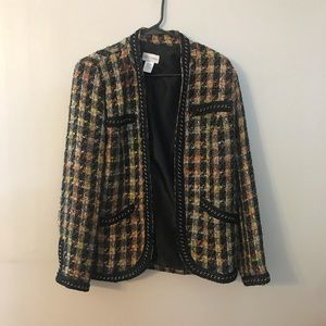 Soft Surroundings Multi Color Tweed Jacket M